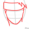 How to Draw Kakashi Hatake, Face, Naruto