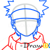 How to Draw Naruto Uzumaki, Face, Naruto