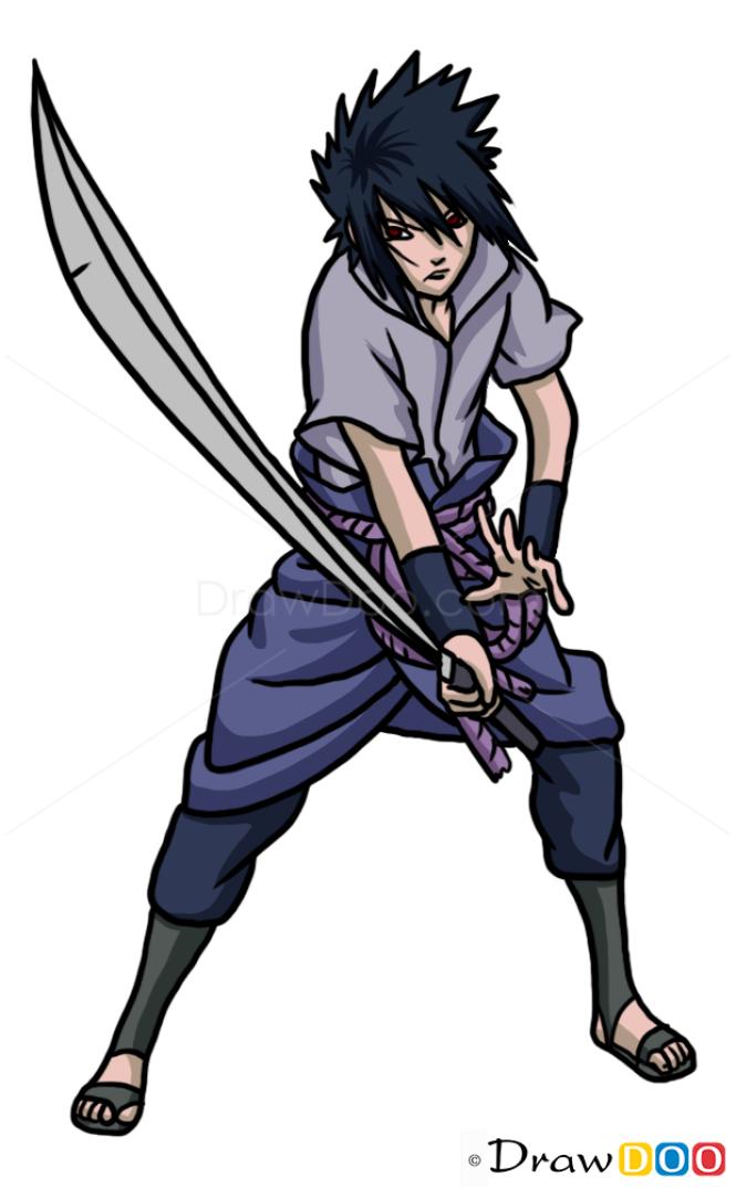 How to Draw Sasuke Uchiha, Naruto