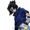 How to Draw Sasuke Uchiha, Face, Naruto