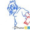 How to Draw Sasuke Uchiha, Face, Naruto