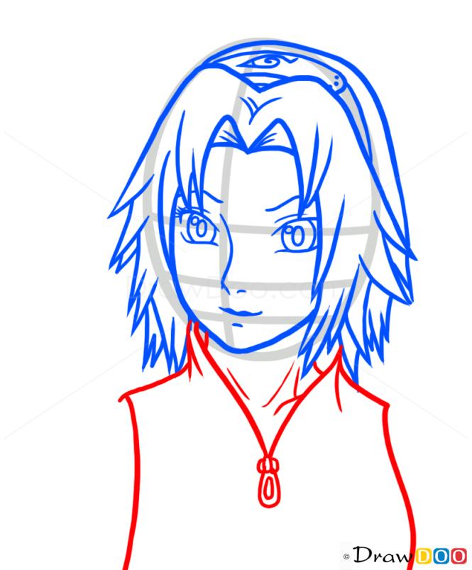 How to Draw Sakura Haruno, Naruto