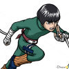 How to Draw Rock Lee, Naruto