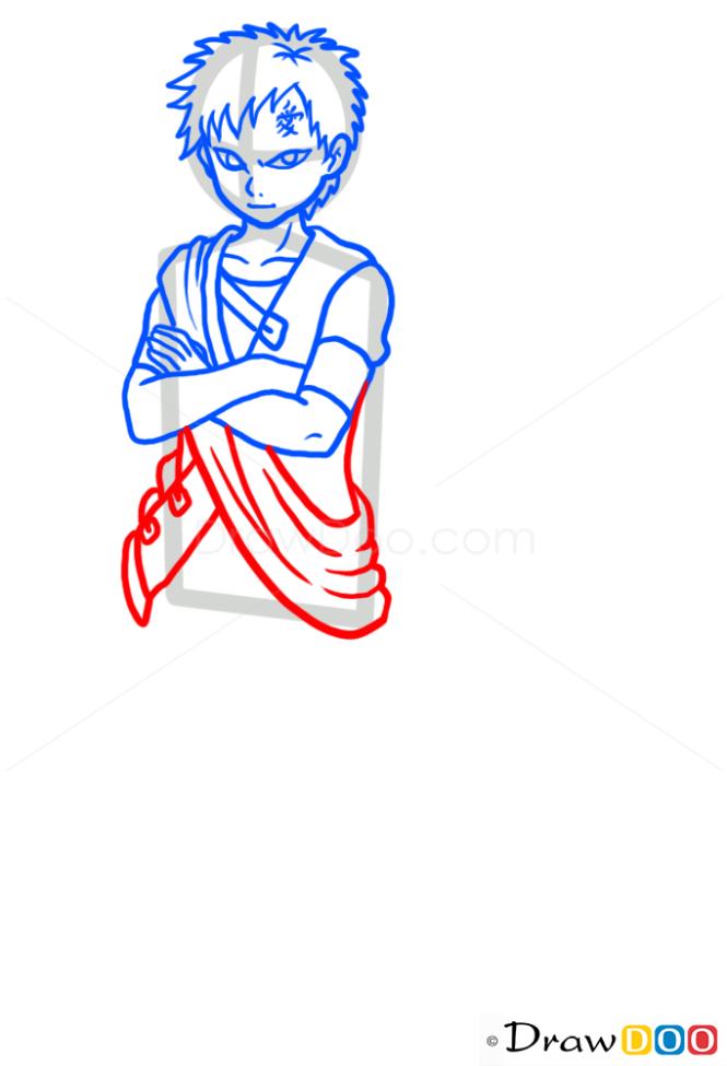 How to Draw Gaara, Naruto