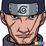 How to Draw Ibiki Morino, Naruto