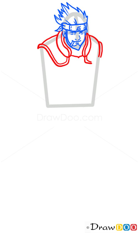 How to Draw Asuma Sarutobi, Naruto