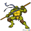 How to Draw Donatello, Ninja Turtles
