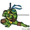 How to Draw Leonardo, Ninja Turtles