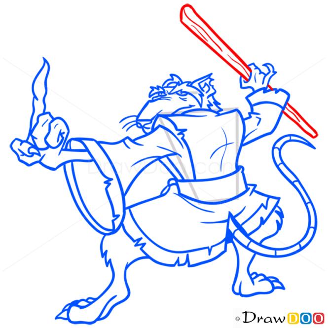 How to Draw Splinter, Ninja Turtles