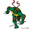 How to Draw Rafael, Ninja Turtles