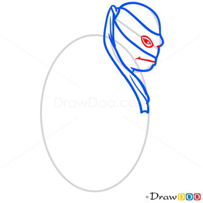How to Draw Rafael, Ninja Turtles