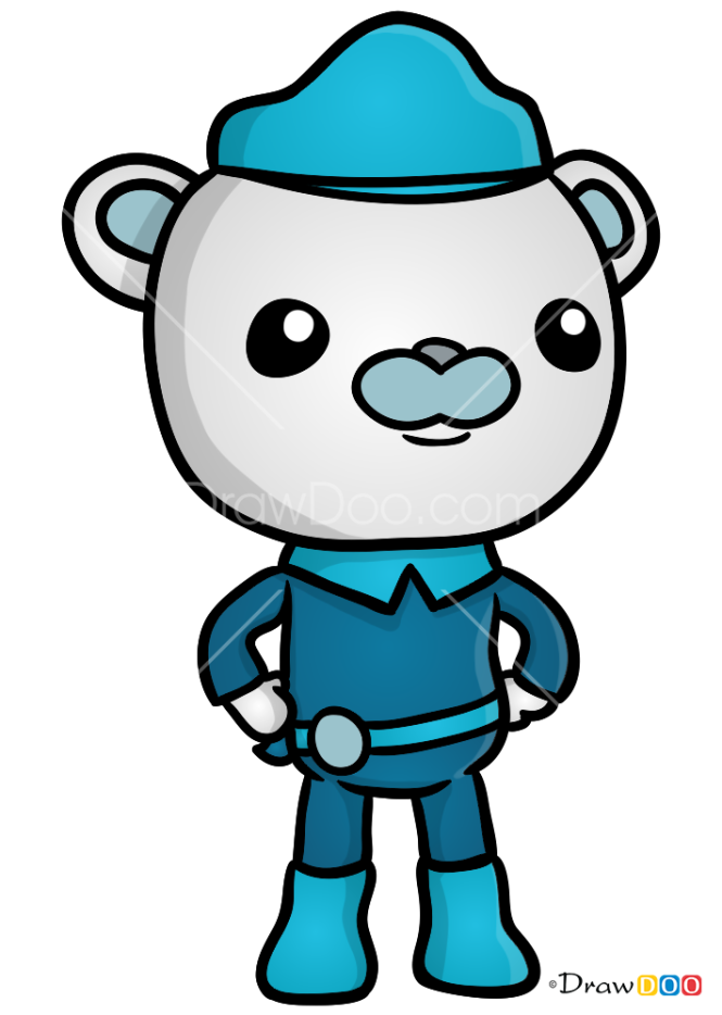 how to draw captain barnacles the octonauts