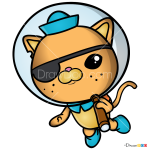 How to Draw Kwazii, The Octonauts