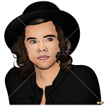How to Draw Harry Styles, One Direction