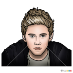 How to Draw Niall Horan, One Direction