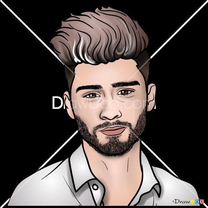 How To Draw Zayn Malik One Direction