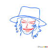 How to Draw Portgas D. Ace Face, One Piece