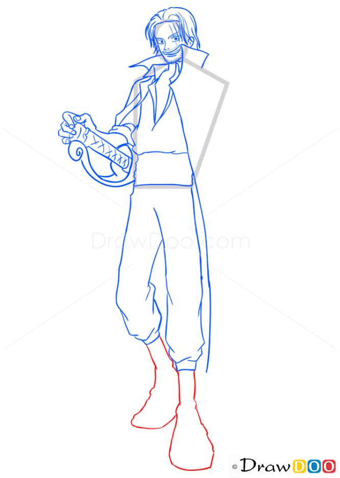 How to Draw Shanks, One Piece