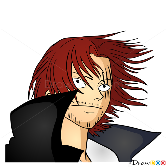 How to Draw Shanks Face, One Piece