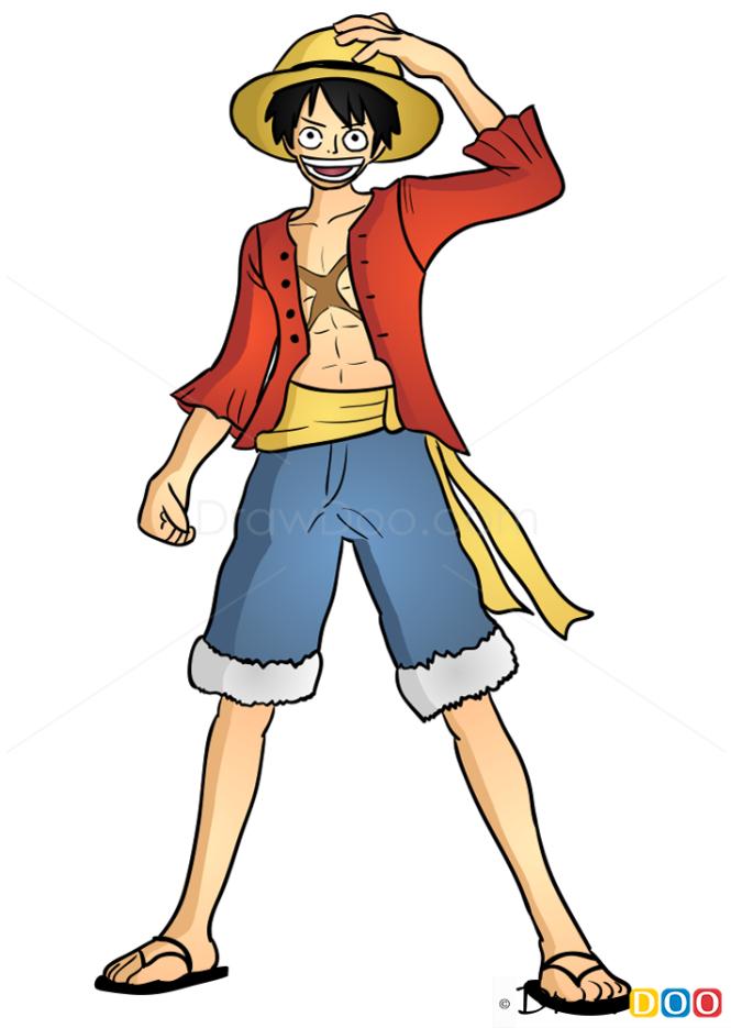 How To Draw Monkey D Luffy One Piece
