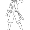 How to Draw Monkey D. Luffy, One Piece