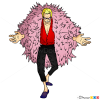 How to Draw Doflamingo, One Piece