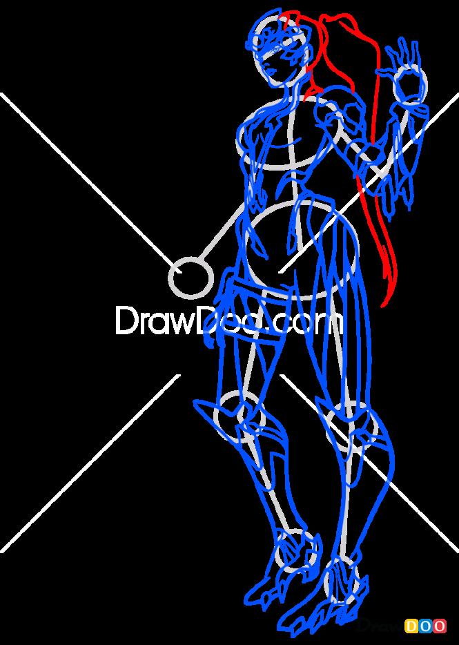 How to Draw Widowmaker, Overwatch