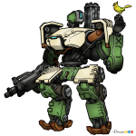 How to Draw Bastion, Overwatch