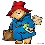 How to Draw Cartoon Paddington, Paddington