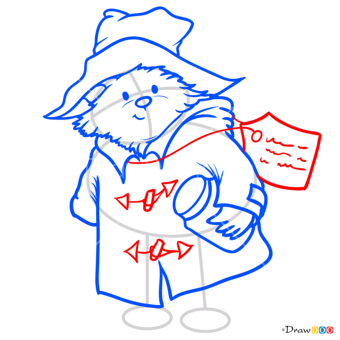 How to Draw Cartoon Paddington, Paddington