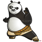 How to Draw Po, Kung Fu Panda