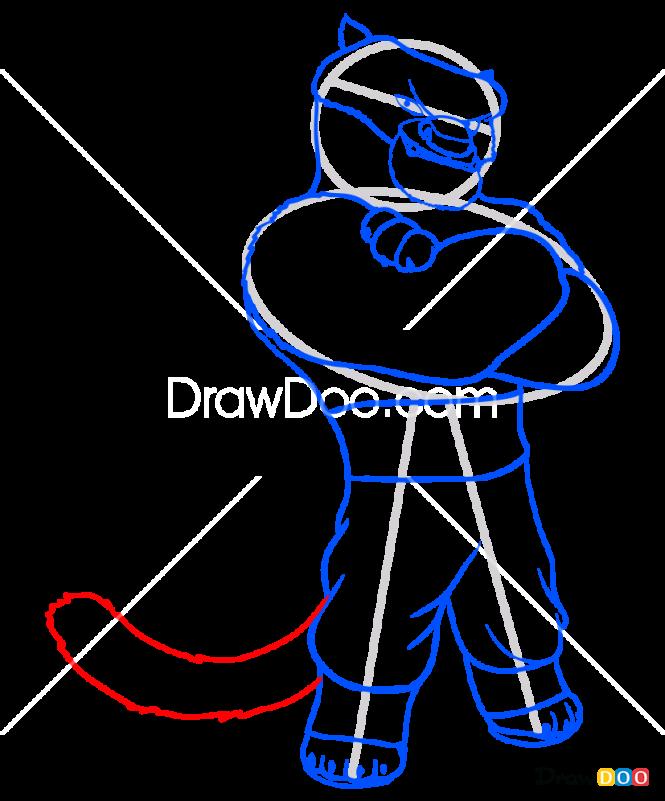 How to Draw Tai Lung, Kung Fu Panda