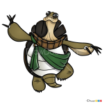 How to Draw Grand Master Oogway, Kung Fu Panda