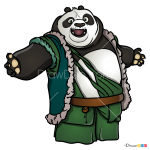 How to Draw Li, Kung Fu Panda