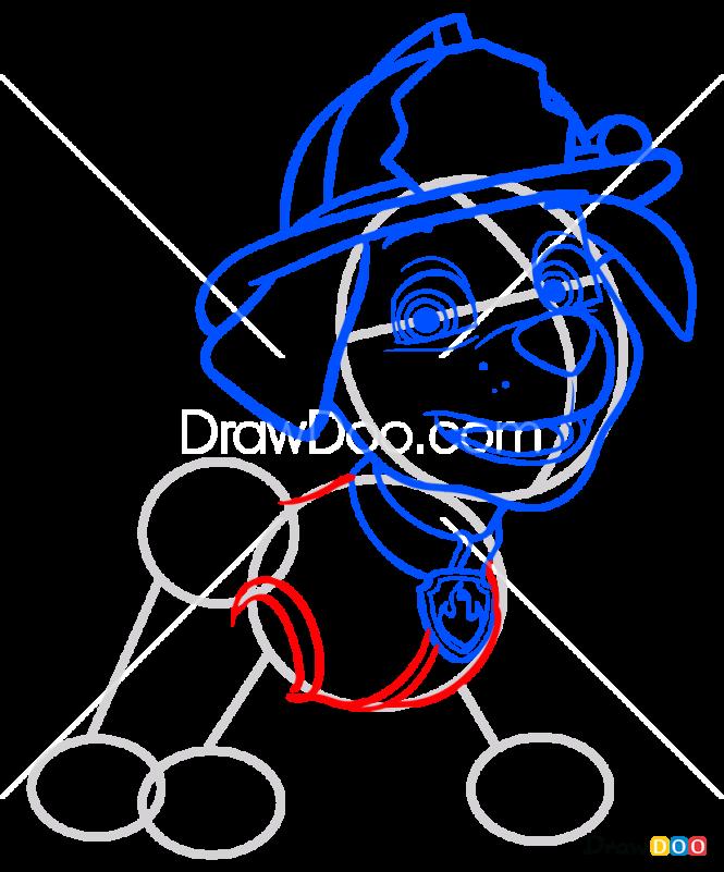 How to Draw Marshal, Paw Patrol