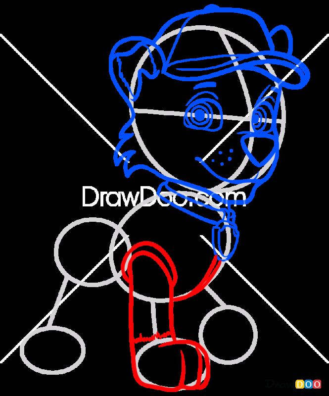 How to Draw Rocky, Paw Patrol