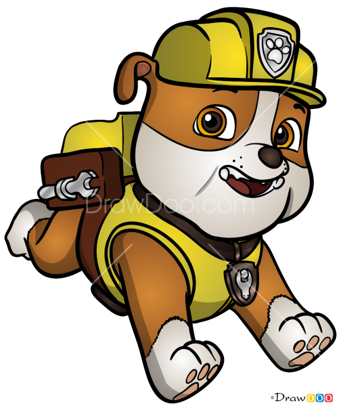How to Draw Rubble, Paw Patrol