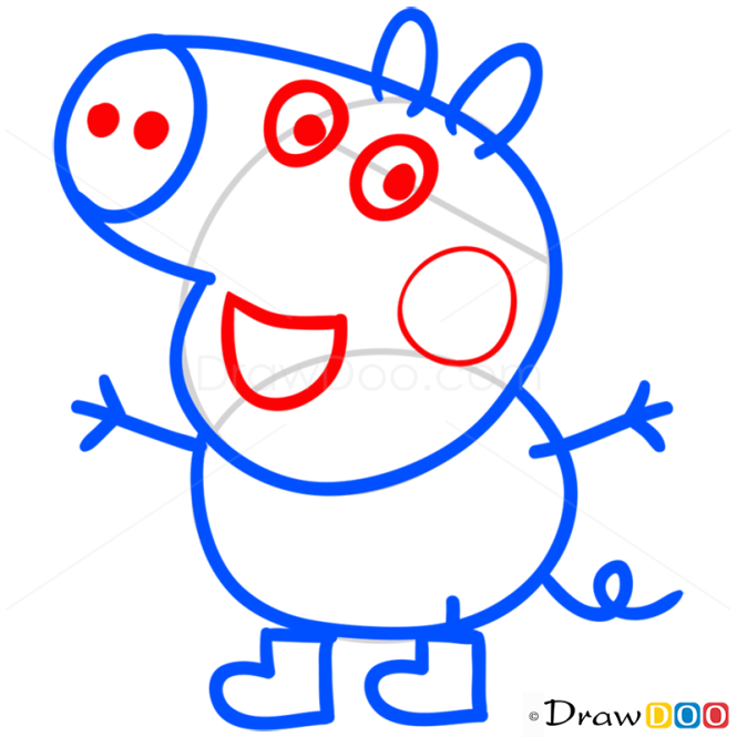 How to Draw George 1, Peppa Pig