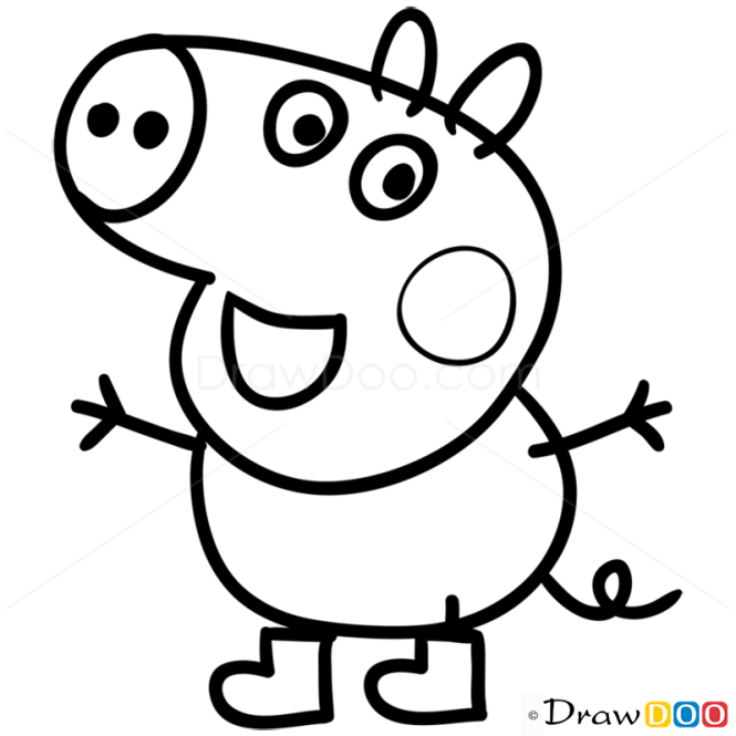 How To Draw George 1 Peppa Pig