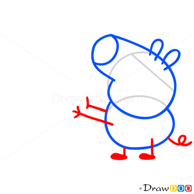 How to Draw George 2, Peppa Pig