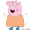 How To Draw Mummy Pig 1 Peppa Pig