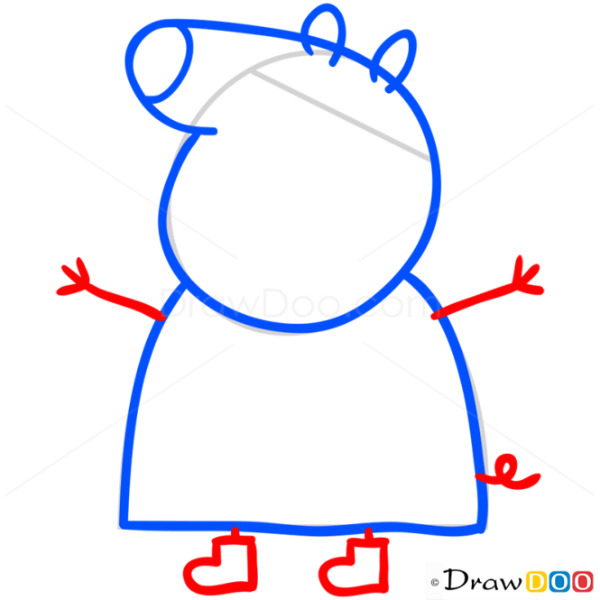 How To Draw Mummy Pig 1 Peppa