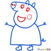 How to Draw Mummy Pig 1, Peppa Pig