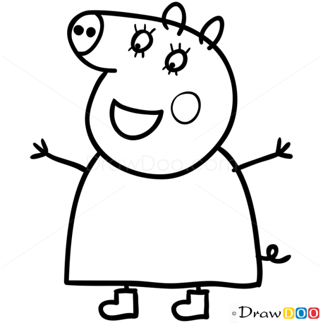 How to Draw Mummy Pig 1 Peppa Pig
