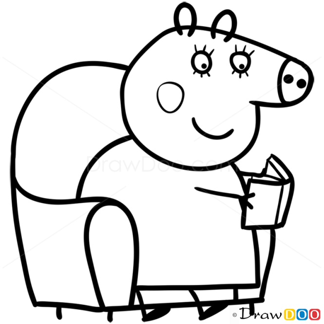 How to Draw Mummy Pig 2 Peppa Pig