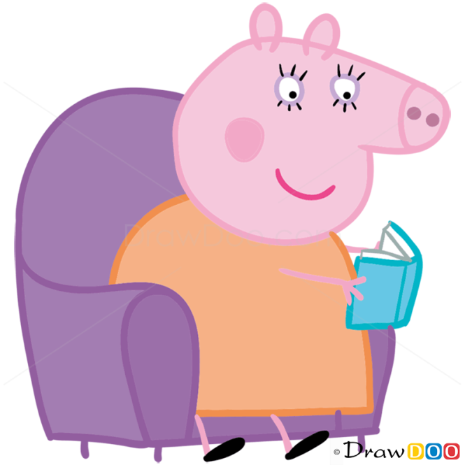 How to Draw Mummy Pig 2, Peppa Pig