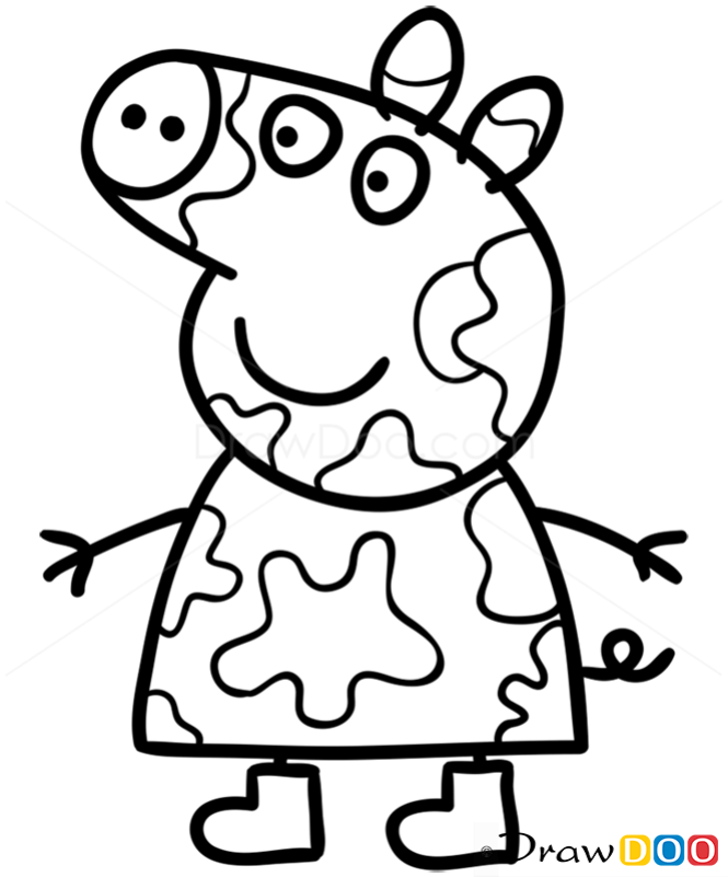How to Draw Peppa 2 Peppa Pig