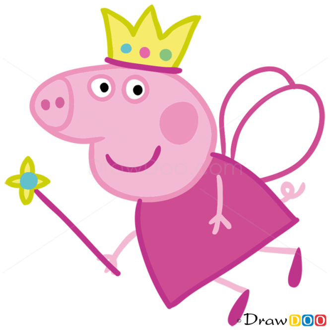 How to Draw Peppa 3, Peppa Pig