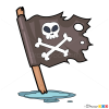 How to Draw Pirate Flag, Pirates