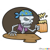 How to Draw Pirate Skeleton, Pirates